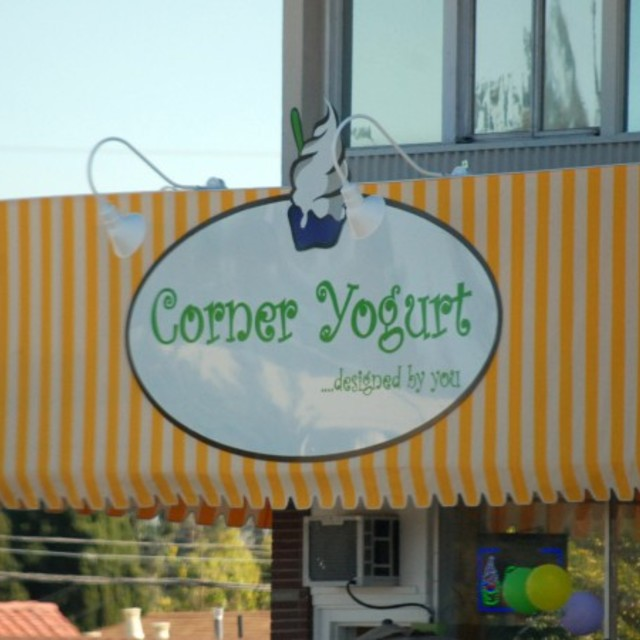 Corner Yogurt, Redwood City, CA logo