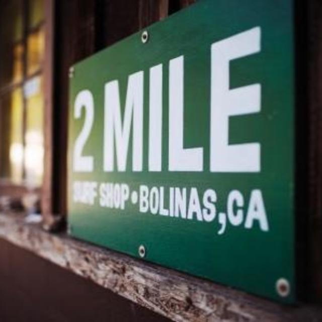 2 Mile Surf Shop, Bolinas, CA logo