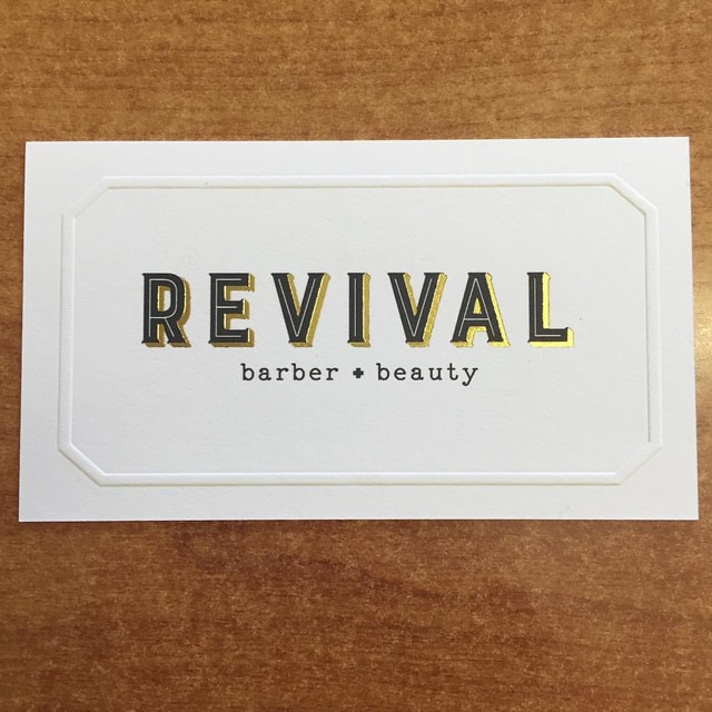 Revival barber+beauty, Berkeley, CA logo