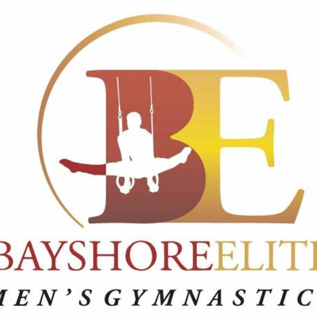 Bayshore Elite Men's Gymnastics, Redwood City, CA logo