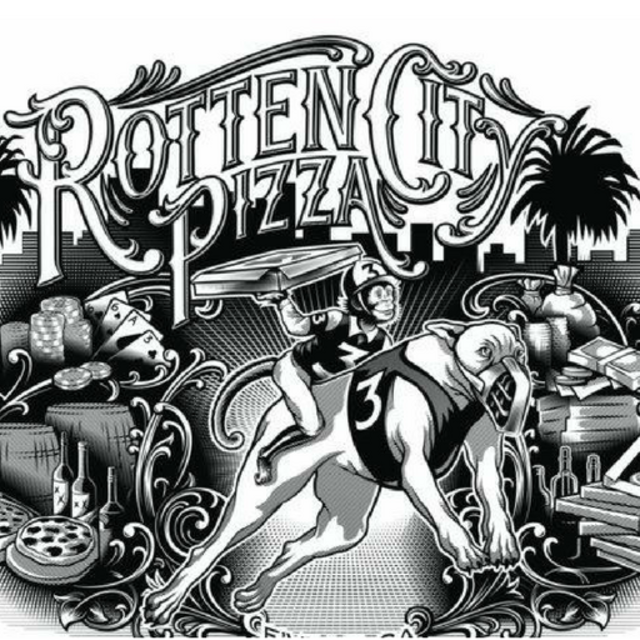 Rotten City Pizza, Emeryville, CA logo