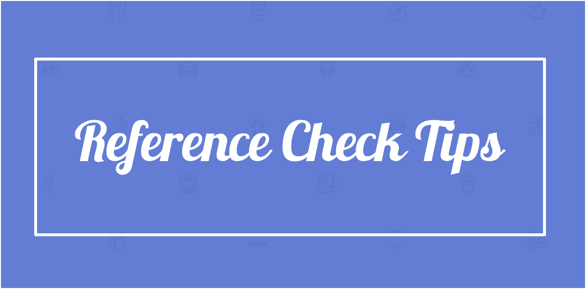 how to write a reference check