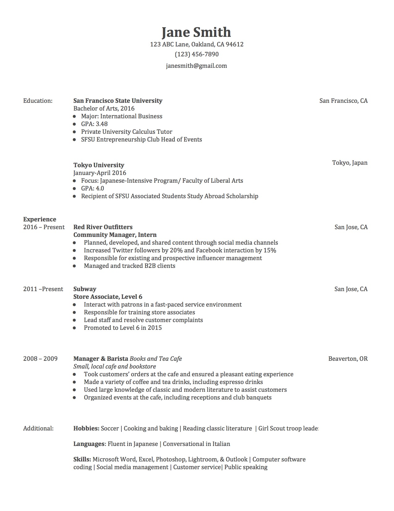 3 Actually Free Resume Templates - Localwise