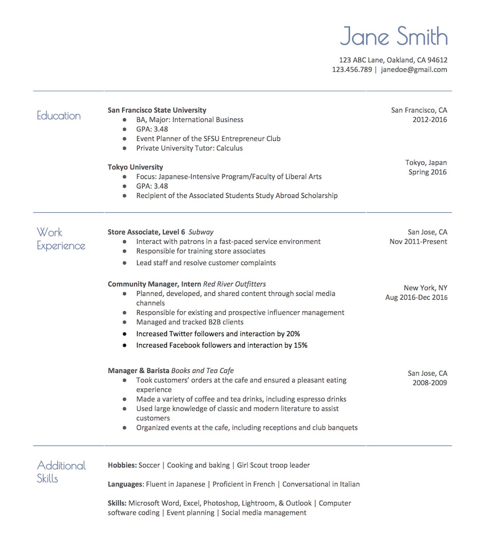 3 actually free resume templates localwise