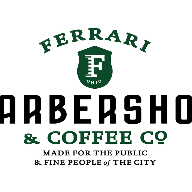 Ferrari Barber & Coffee Co., Cincinnati, OH logo