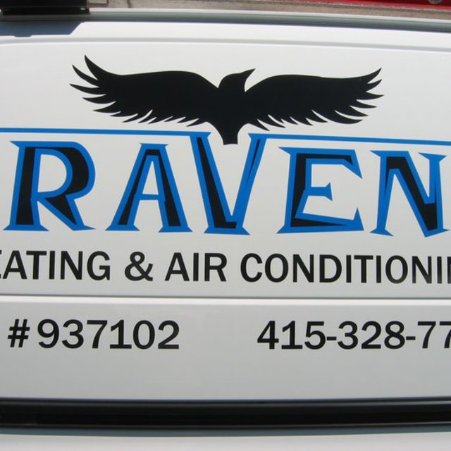 Raven Heating & Air Conditioning, Novato, CA logo