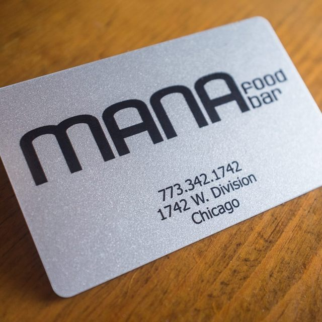 MANA food bar, Wicker Park, IL logo