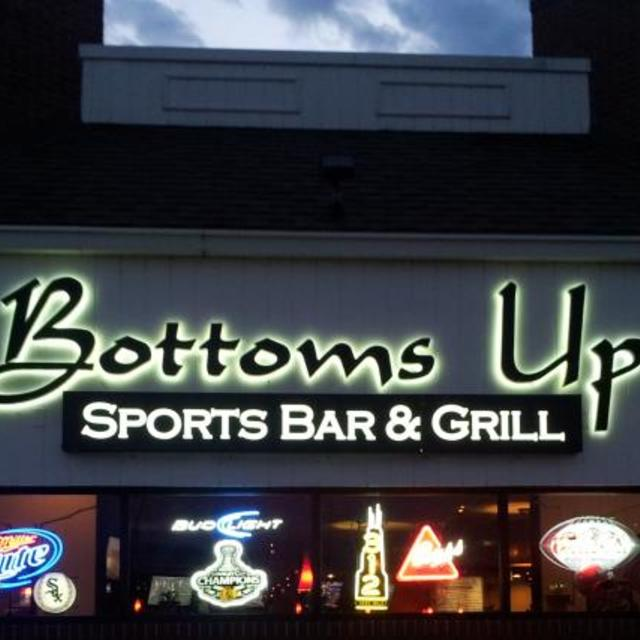 Bottoms Up Sports Bar & Grill, Naperville, IL logo