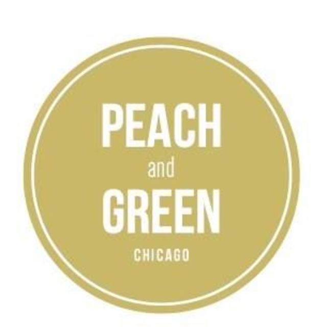 Peach and Green Cafe, Chicago, IL logo