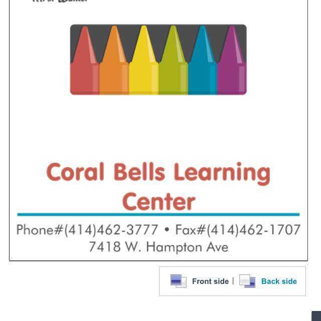 Coral Bells Learning Center, Milwaukee, WI logo