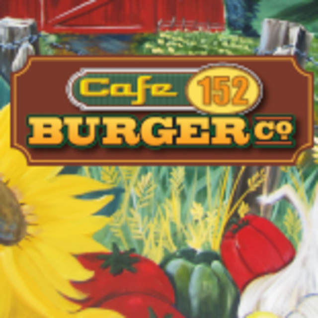 Cafe 152 Burger Co., Gilroy, CA logo