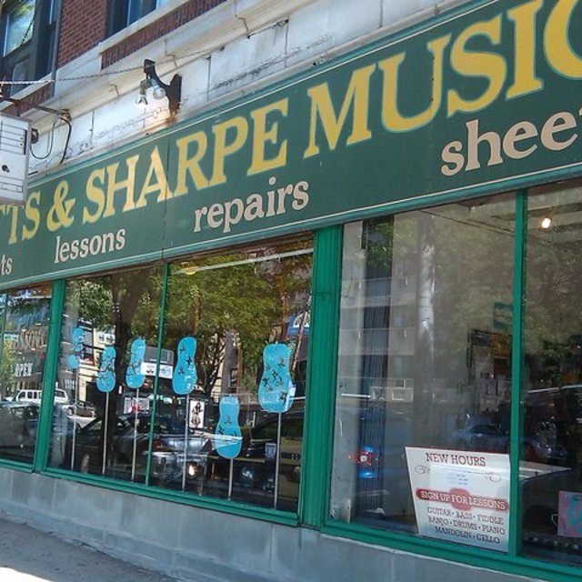 Flatts and Sharpe Music Co., Chicago, IL logo
