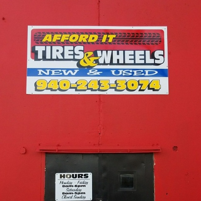 Afford-It Tires & Wheels, Denton, TX logo