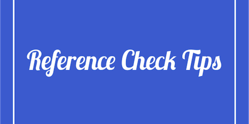 reference check tips