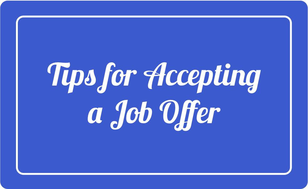 21 Tips For Accepting A Job Offer - Localwise