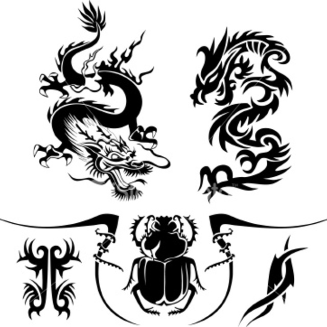 Happy Dragon Tattoo, Abilene, TX logo