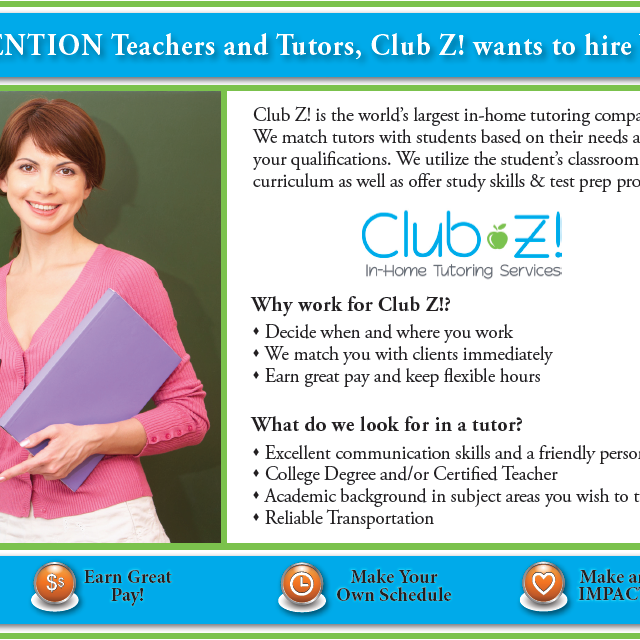 Club Z Tutoring of Orland park, Lockport, IL logo