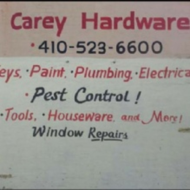 Carey Hardware, Baltimore, MD logo